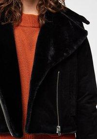 Selected Femme - Leather jacket - black - 4