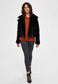 Selected Femme - Leather jacket - black - 1