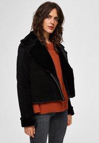 Selected Femme - Leather jacket - black - 0
