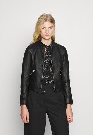 SLFMASCHA  - Leather jacket - black