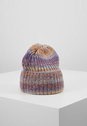 Klobouk - cabernet/multicolor