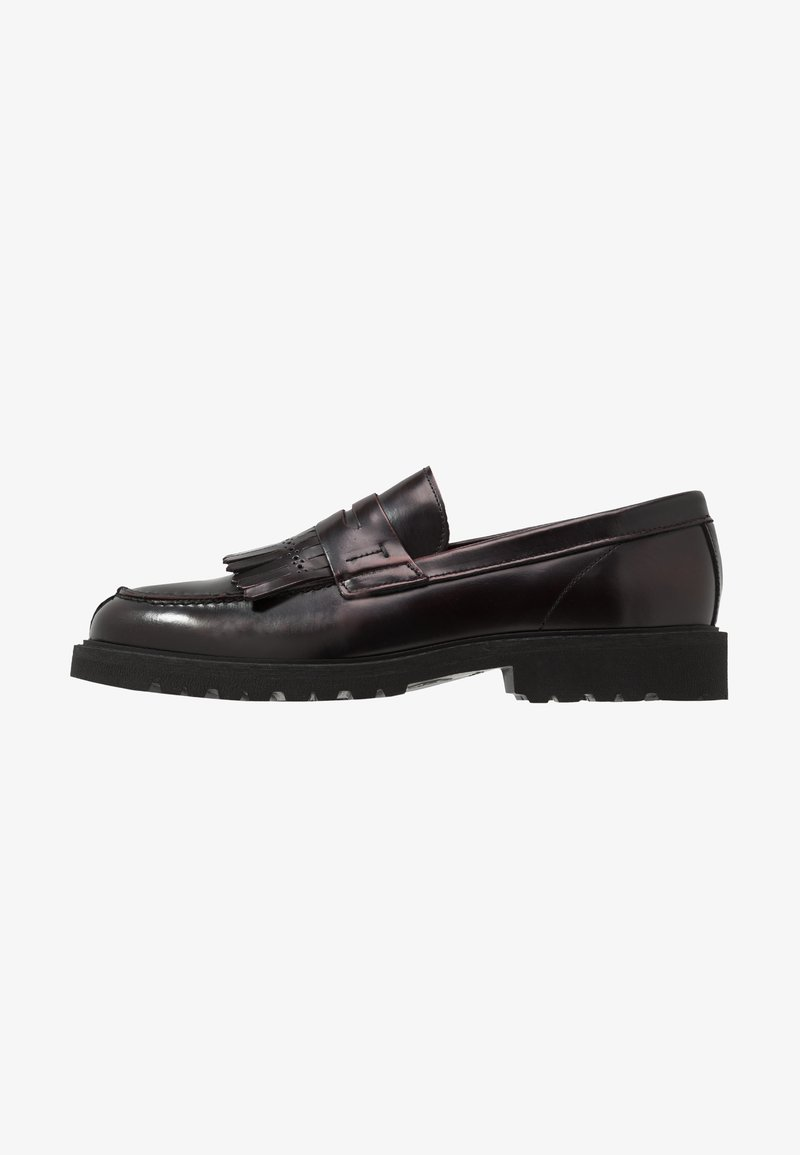 Selected Homme - SLHDANIEL KILTIE LOAFER - Slip-ons - burgundy