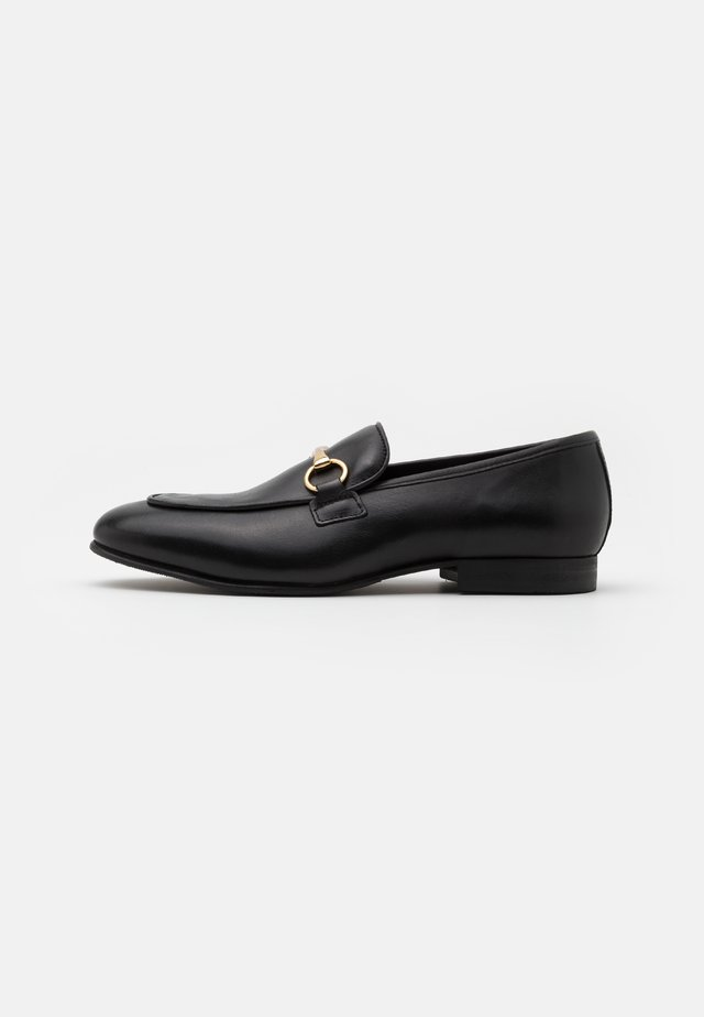 SLHLEO HORSEBIT LOAFER  - Slip-ins - black