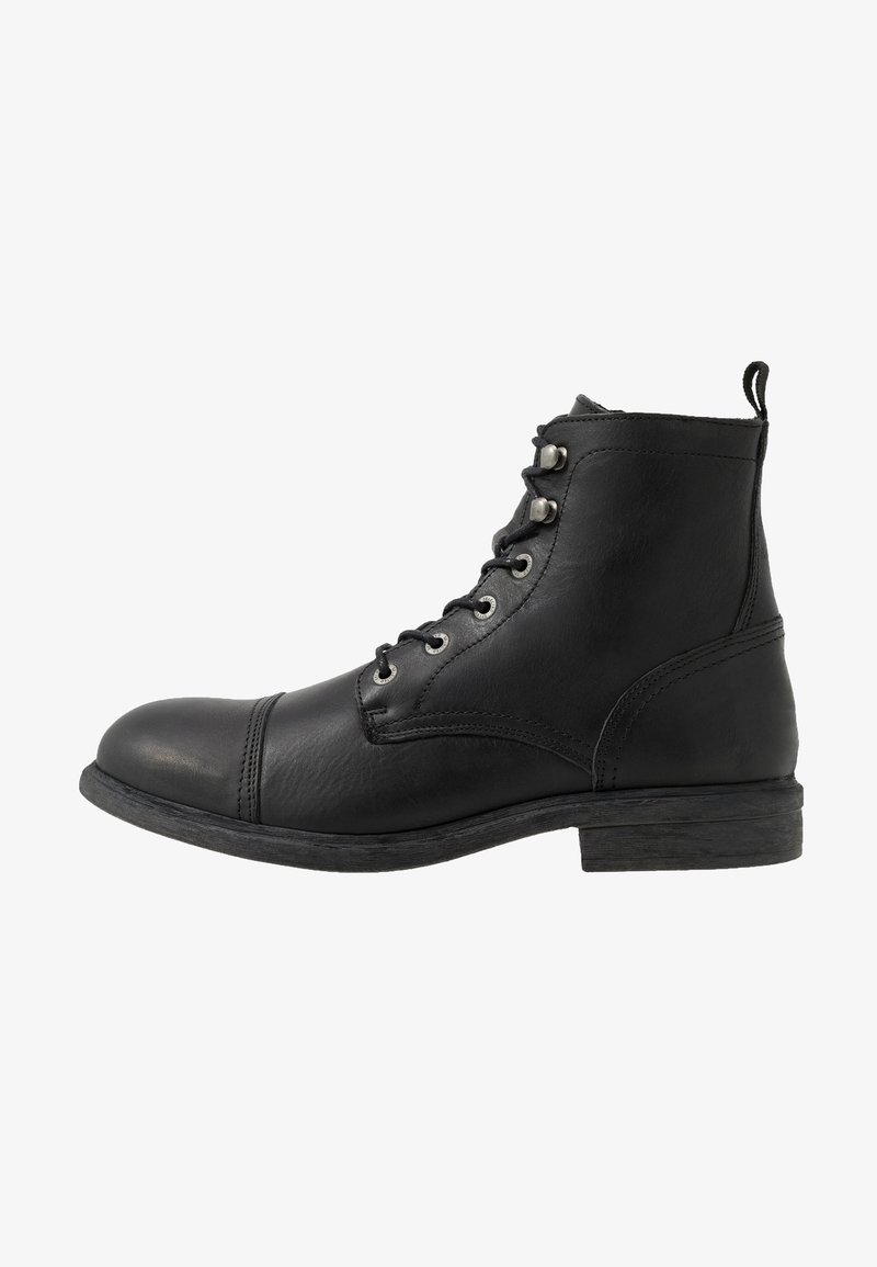 Selected Homme - SLHTERREL BOOT - Šněrovací kotníkové boty - black