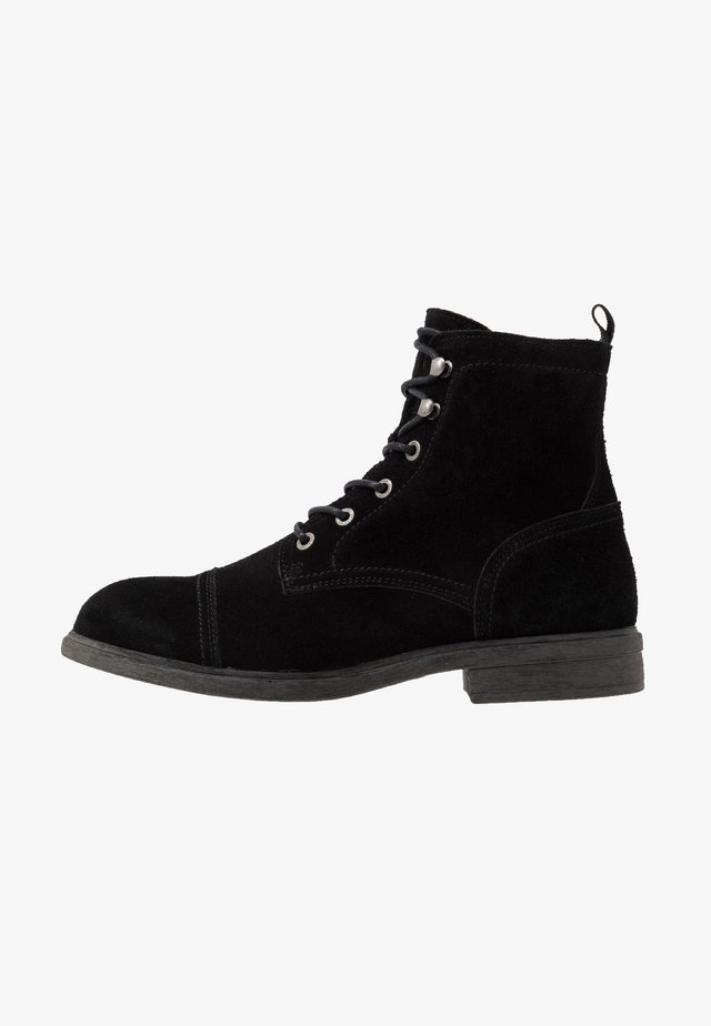 SLHTERREL WARM BOOT  - Lace-up ankle boots - black