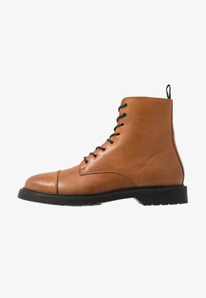 SLHTONY BOOT - Bottines à lacets - cognac
