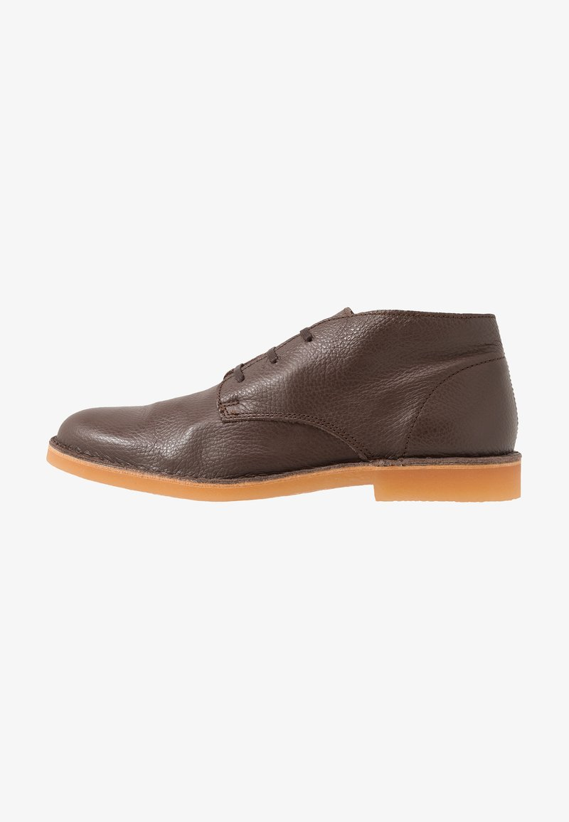 Selected Homme - SLHROYCE DESERT BOOT - Casual lace-ups - brown stone