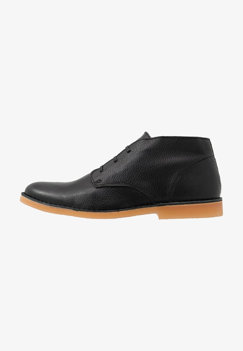 Selected Homme - SLHROYCE DESERT BOOT - Casual lace-ups - black