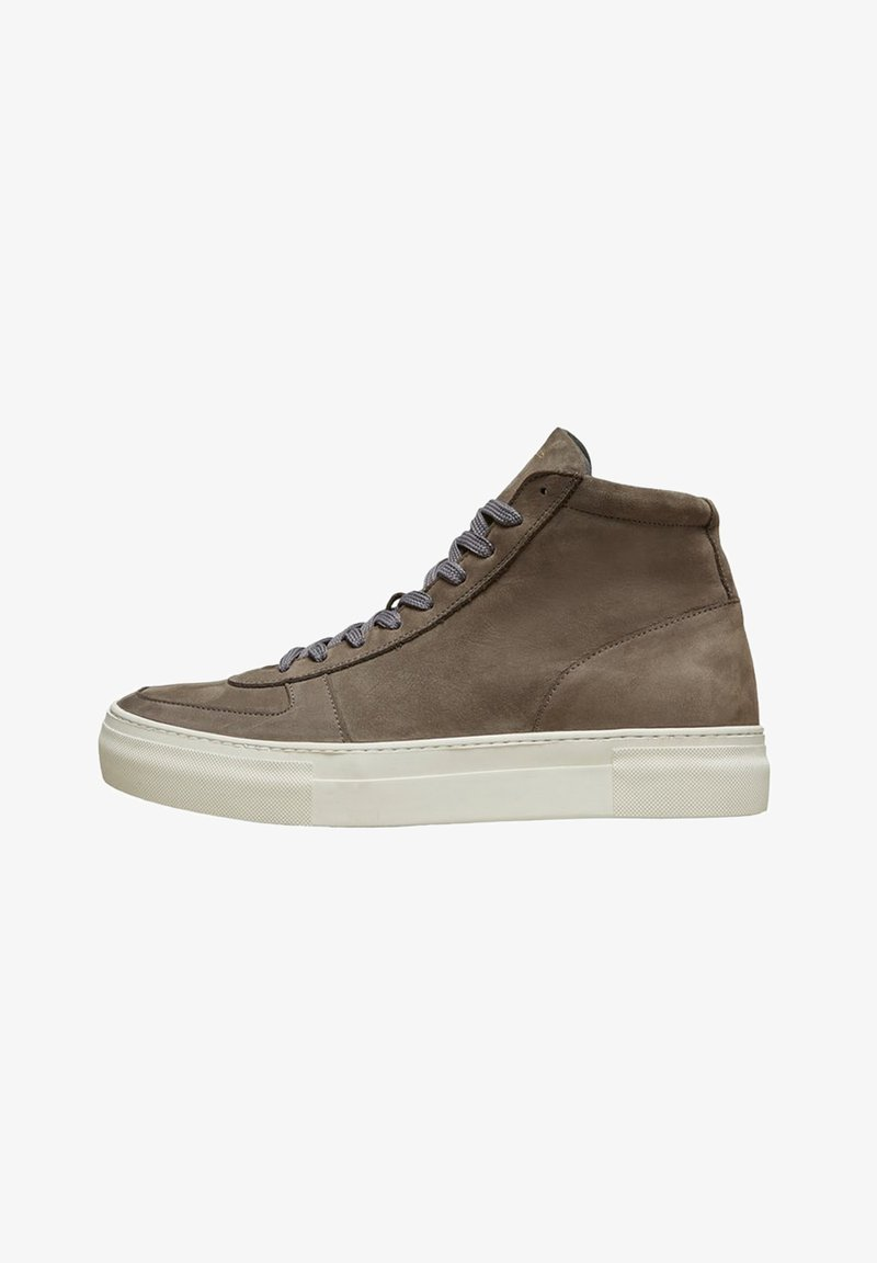 Selected Homme - Baskets montantes - dark grey