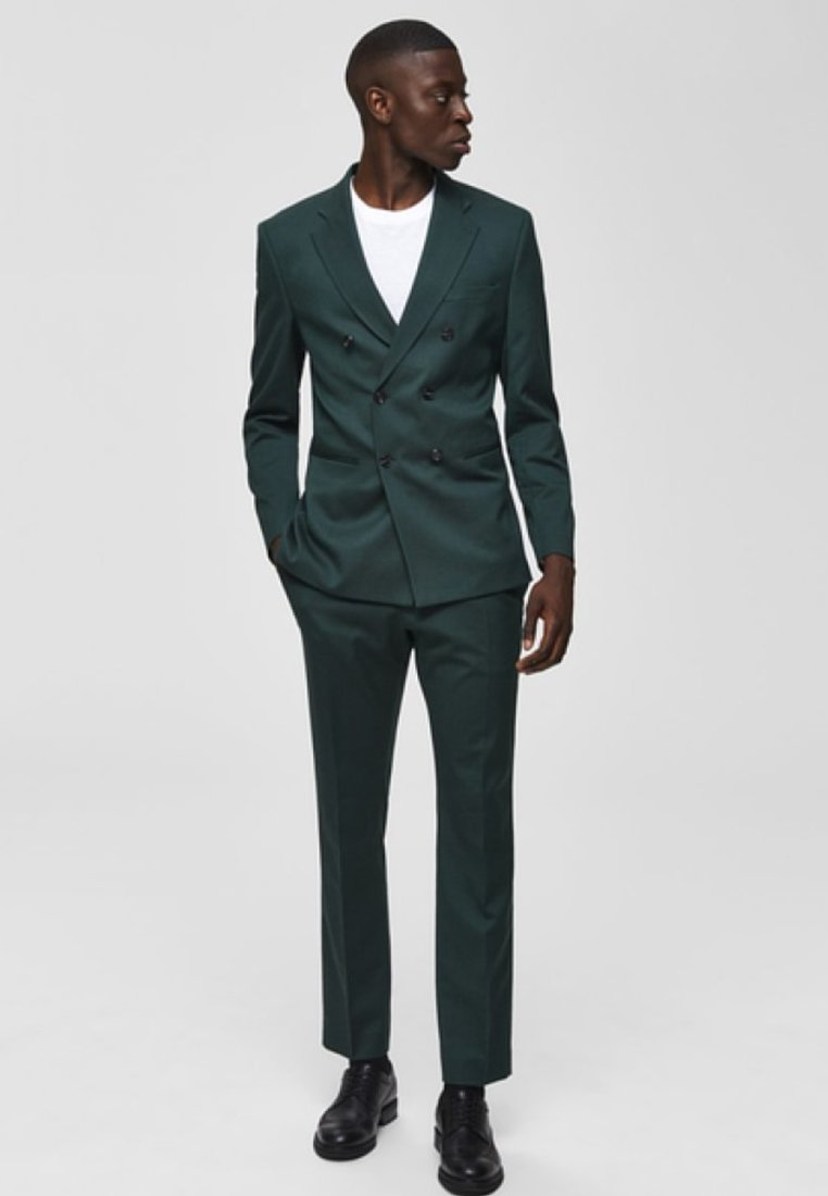 Selected Homme - Jakkesæt bukser - medium green