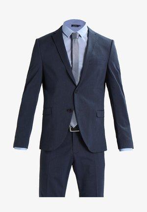 SHDNEWONE MYLOLOGAN SLIM FIT - Oblek - medium blue melange