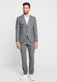 Selected Homme - SHDNEWONE MYLOLOGAN SLIM FIT - Oblek - medium grey melange - 1