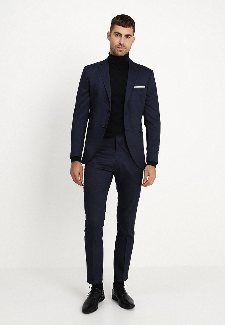 Selected Homme - SLHSLIM FIT ACECHACO SUIT - Anzug - dark navy