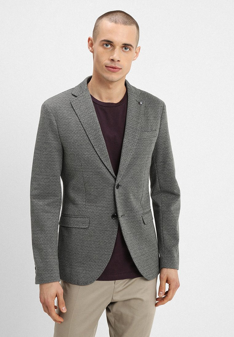 Selected Homme - SLHSLIM SHAFT - Blazer jacket - medium grey melange