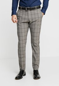 Selected Homme - SLHSLIM RICLOGAN CHECK SUIT - Costume - sand - 4