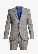 SLHSLIM RICLOGAN CHECK SUIT - Oblek - sand