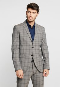 Selected Homme - SLHSLIM RICLOGAN CHECK SUIT - Costume - sand - 2