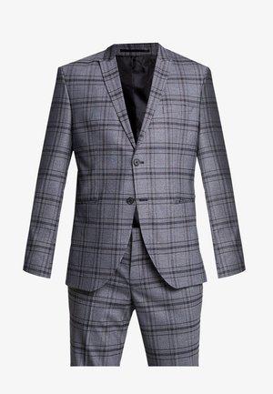 PEAKPEKA CHECK - Oblek - dark grey/brown