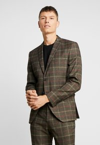 Selected Homme - SLHSLIM MYLORANK SUIT  - Oblek - camel/red - 2