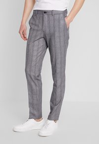 Selected Homme - SLHSLIM MYLOBEND CHECK SUIT - Oblek - grey - 4