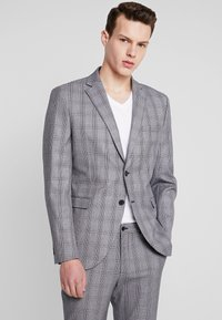 Selected Homme - SLHSLIM MYLOBEND CHECK SUIT - Oblek - grey - 2