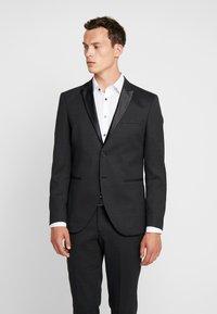 Selected Homme - SLHSLIM REX TUX SUIT - Costume - dark grey melange - 2