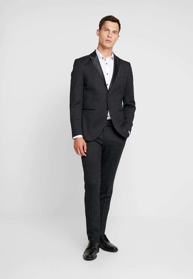 Selected Homme - SLHSLIM REX TUX SUIT - Suit - dark grey melange