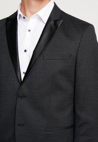 Selected Homme - SLHSLIM REX TUX SUIT - Costume - dark grey melange - 10