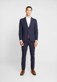 Selected Homme - SLHSLIM MYLOLOGAN SUIT - Oblek - navy blue/grey - 0