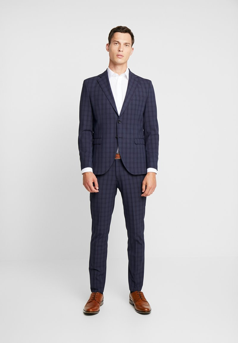 Selected Homme - SLHSLIM MYLOLOGAN SUIT - Oblek - navy blue/grey