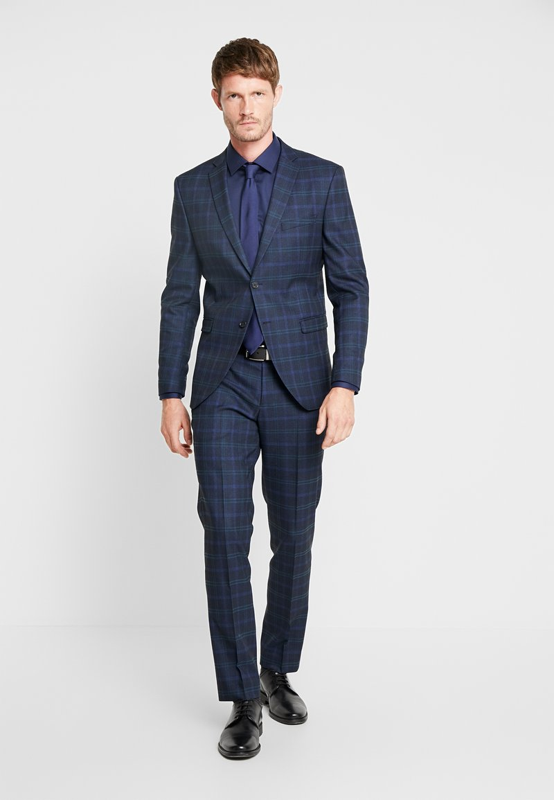 Selected Homme - SLHSLIM-MYLONAPE CHECK SUIT - Kostuum - dark blue