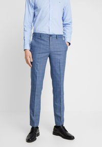 Selected Homme - SLHSLIM MYLOMORY CHECK SUIT - Oblek - medium blue/light blue - 2