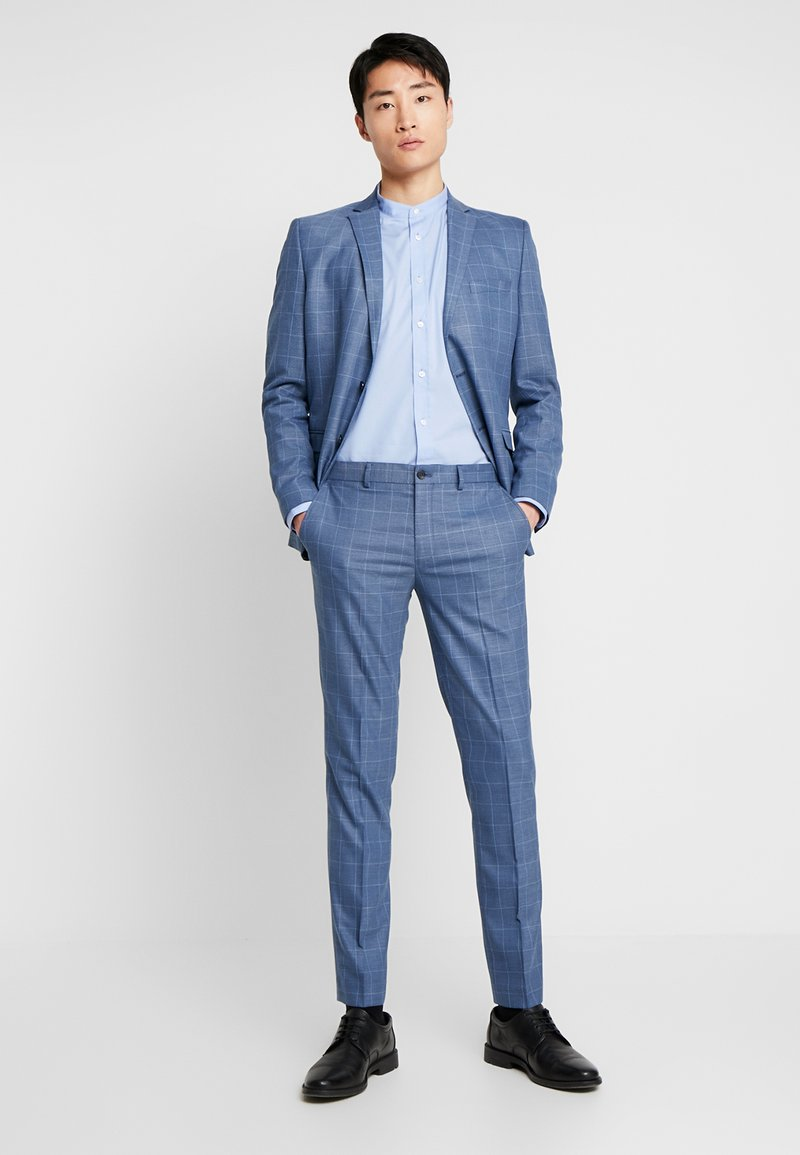 Selected Homme - SLHSLIM MYLOMORY CHECK SUIT - Oblek - medium blue/light blue