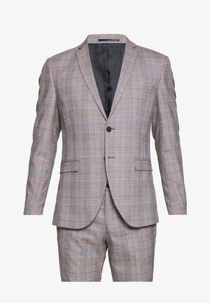 SLHSLIM MYLOKIPA CHECK SUIT - Suit - brownie/blue