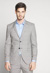 Selected Homme - SLHSLIM EMIL CHECK SUIT - Oblek - light gray/blue - 2