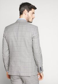 Selected Homme - SLHSLIM EMIL CHECK SUIT - Oblek - light gray/blue - 3