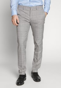 Selected Homme - SLHSLIM EMIL CHECK SUIT - Oblek - light gray/blue - 4