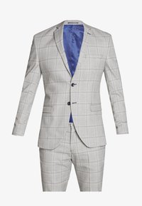 Selected Homme - SLHSLIM EMIL CHECK SUIT - Oblek - light gray/blue - 7