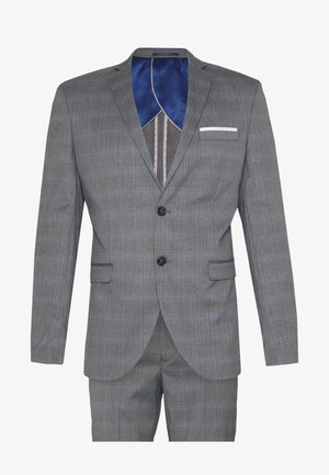 SLHSLIM-NAS GREY CHECK SUIT - Suit - grey/blue/white