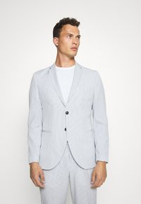 Selected Homme - SLHSLIM YONG WHITE STRIPE SUIT - Completo - white/blue - 2