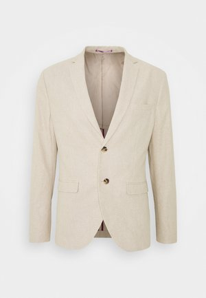 SLHSLIM WILL - Blazer jacket - sand/white