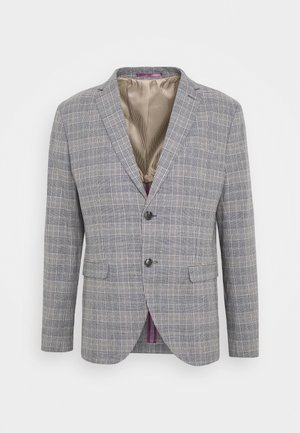 SLHSLIM WILL - Blazer jacket - dark blue/blue/sand