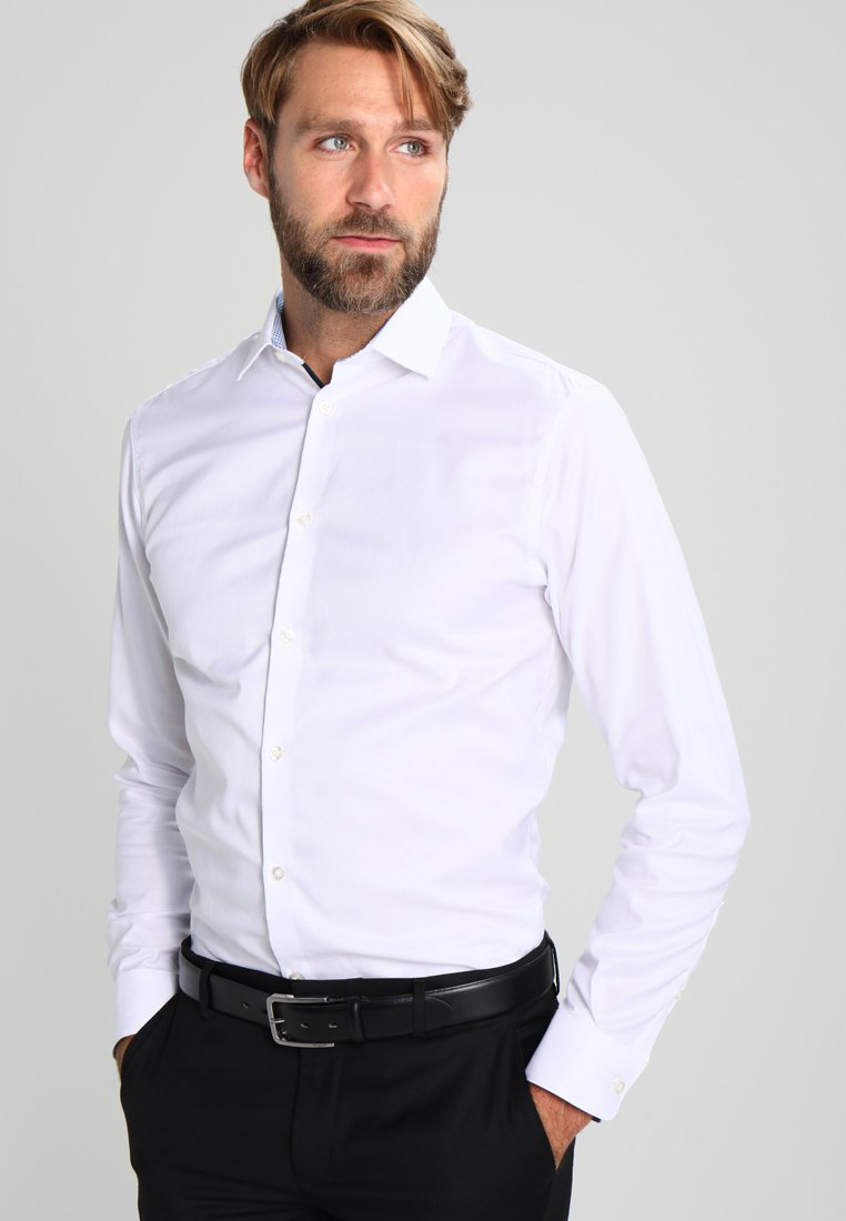 Selected Homme - SHDONENEW MARK SLIM FIT - Kauluspaita - bright white