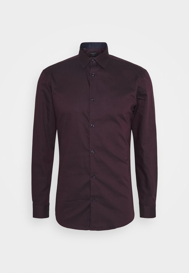 SHDONENEW MARK  - Formal shirt - winetasting/black