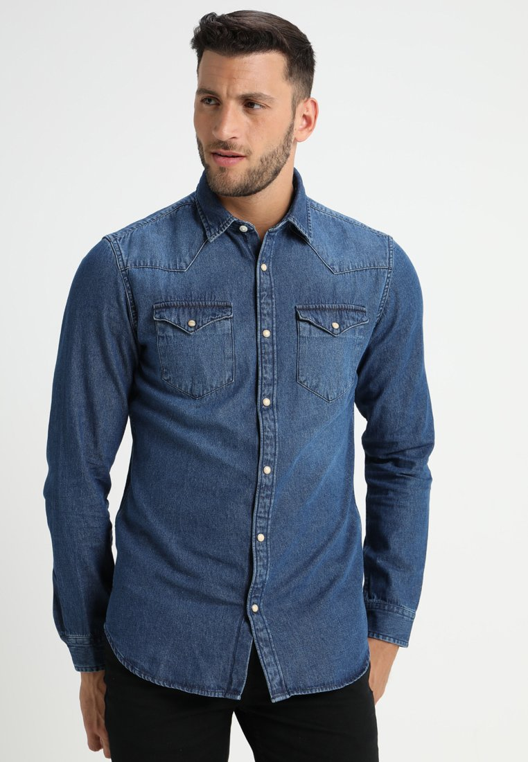 Selected Homme - SLHSLIMNED SMITH - Skjorter - medium blue denim