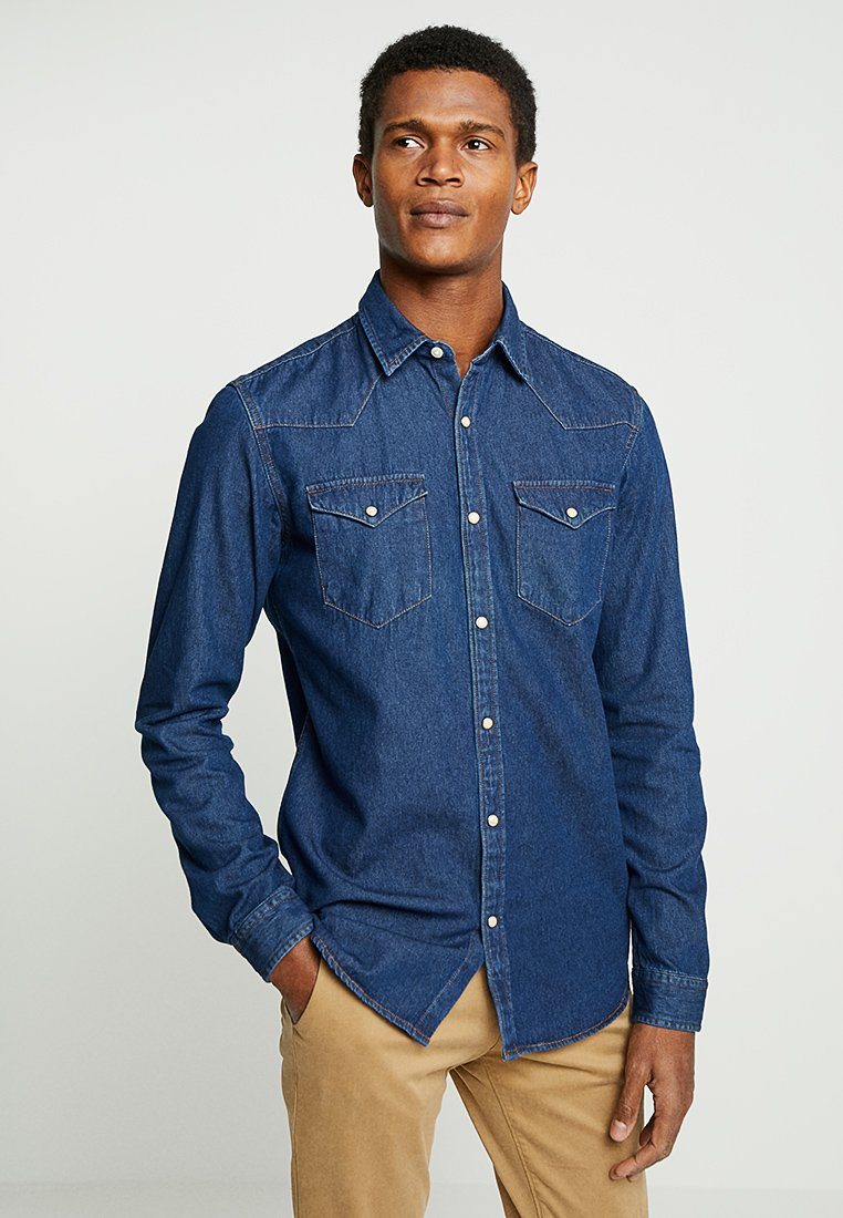 Selected Homme - SLHSLIMNED SMITH - Skjorta - dark blue denim