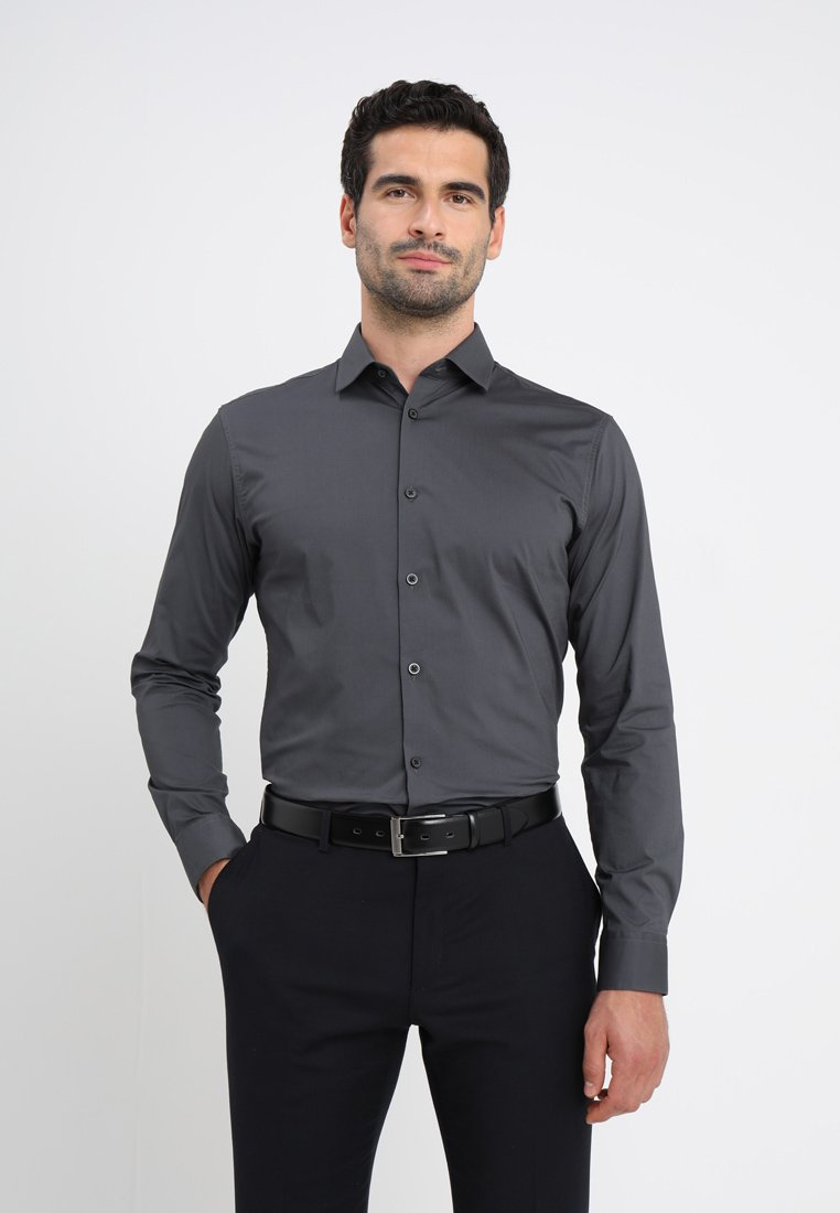 Selected Homme - SLHSLIMBROOKLYN - Camicia - dark grey