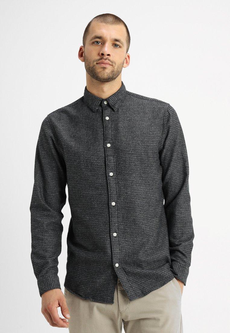 Selected Homme - SLHSLIMANDREW - Hemd - dark grey/structure