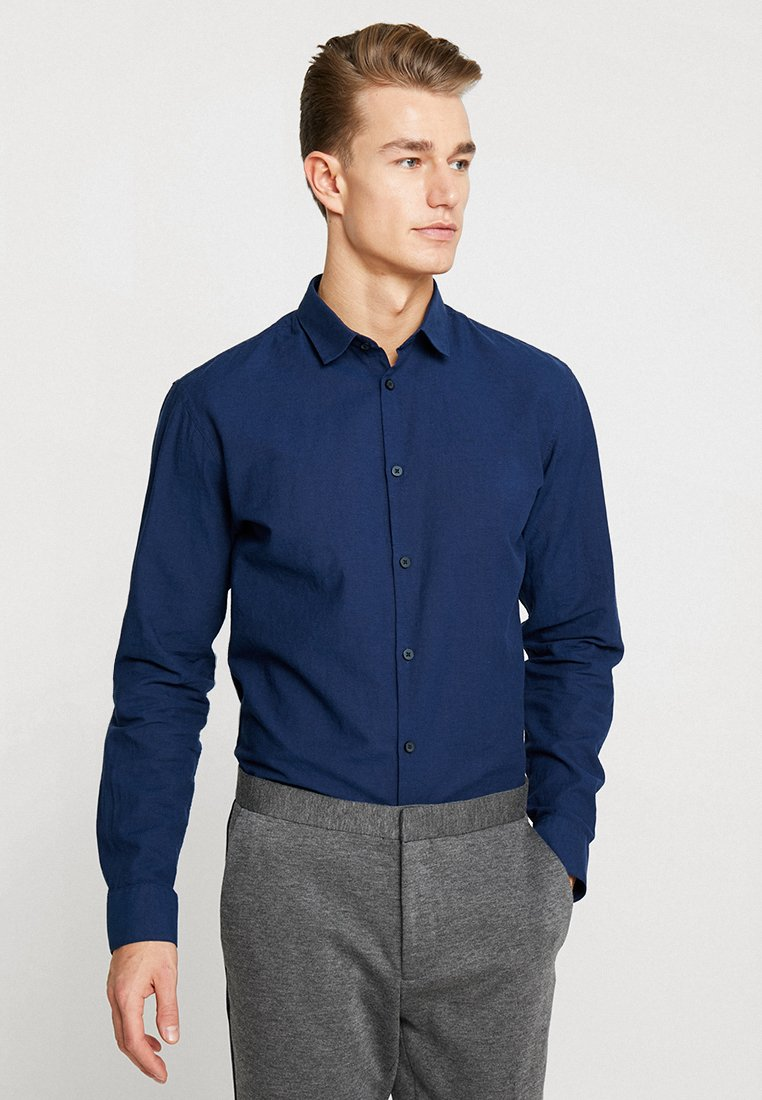 Selected Homme - SLHSLIMLINEN - Hemd - dark blue