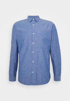 SLHSLIMLINEN - Shirt - medium blue denim